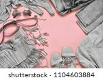 set of grey clothes and... | Shutterstock . vector #1104603884
