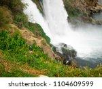 the waterfall of antalya... | Shutterstock . vector #1104609599