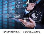 machine learning technology... | Shutterstock . vector #1104623291
