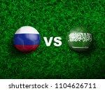 3d realistic of russia versus... | Shutterstock .eps vector #1104626711