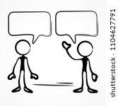 business meeting  stick figures ... | Shutterstock .eps vector #1104627791