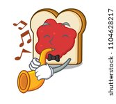 with trumpet bread with jam... | Shutterstock .eps vector #1104628217
