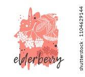 elderberry concept design. hand ...   Shutterstock .eps vector #1104629144