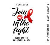 blood cancer awareness label....   Shutterstock .eps vector #1104630341