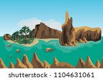 sea landscape scene background... | Shutterstock .eps vector #1104631061