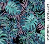vintage tropical background... | Shutterstock .eps vector #1104632195