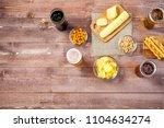glasses of light and dark beer...   Shutterstock . vector #1104634274