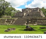 ancient maya archaeological... | Shutterstock . vector #1104636671