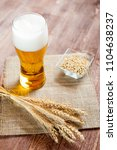 glass of beer with wheat on a...   Shutterstock . vector #1104638237