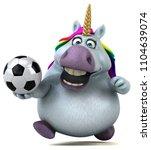 fun unicorn   3d illustration   Shutterstock . vector #1104639074