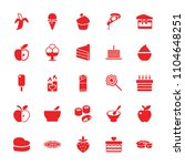 delicious icon. collection of... | Shutterstock .eps vector #1104648251