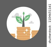 coin stack  plant growth ... | Shutterstock .eps vector #1104651161
