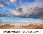 sand dunes in death valley...   Shutterstock . vector #1104653894