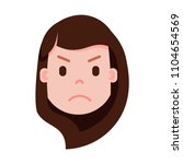 girl head emoji with facial... | Shutterstock .eps vector #1104654569
