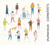 various people character on the ... | Shutterstock .eps vector #1104655571