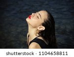 face fashion girl or women in... | Shutterstock . vector #1104658811
