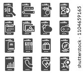 mobile apps vector icon. flat... | Shutterstock .eps vector #1104659165