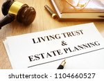 living trust and estate... | Shutterstock . vector #1104660527