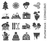 christmas and winter icons... | Shutterstock .eps vector #1104661865