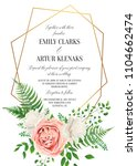 wedding floral invite ... | Shutterstock .eps vector #1104662474
