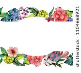 tropical bouquet flower. floral ... | Shutterstock . vector #1104668921