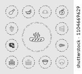 tasty icon. collection of 13...   Shutterstock .eps vector #1104669629