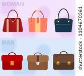 men's briefcase and handbag. a... | Shutterstock .eps vector #1104670361