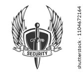 security. winged shield with... | Shutterstock .eps vector #1104672164