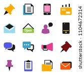 solid vector ixon set   paper... | Shutterstock .eps vector #1104672314