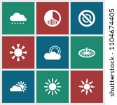 sunlight icon. collection of 9... | Shutterstock .eps vector #1104674405