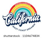 California Rainbow Retro Print...