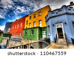 colorful buildings   dublin... | Shutterstock . vector #110467559