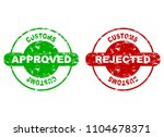 customs approved and rejected... | Shutterstock .eps vector #1104678371