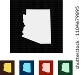 map of arizona   Shutterstock .eps vector #1104679895
