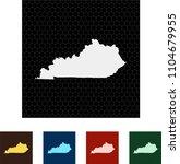 map of kentucky   Shutterstock .eps vector #1104679955