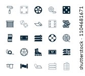 roll icon. collection of 25... | Shutterstock .eps vector #1104681671