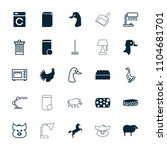 domestic icon. collection of 25 ... | Shutterstock .eps vector #1104681701