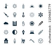 heat icon. collection of 25...   Shutterstock .eps vector #1104681779