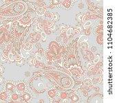 paisley vector seamless pattern.... | Shutterstock .eps vector #1104682385