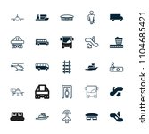 passenger icon. collection of... | Shutterstock .eps vector #1104685421