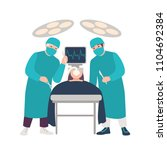 two surgeons or physicians... | Shutterstock .eps vector #1104692384