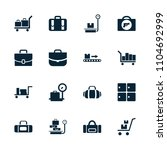 baggage icon. collection of 16... | Shutterstock .eps vector #1104692999