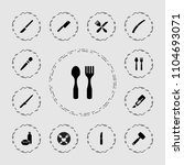 knife icon. collection of 13... | Shutterstock .eps vector #1104693071
