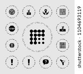 problem icon. collection of 13... | Shutterstock .eps vector #1104693119