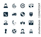 support icon. collection of 16... | Shutterstock .eps vector #1104693269
