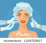 plastic surgery. vector... | Shutterstock .eps vector #1104703817