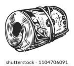 vintage money roll template...   Shutterstock .eps vector #1104706091