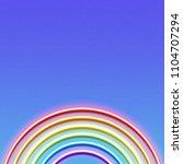 neon glowing rainbow  lgbt... | Shutterstock .eps vector #1104707294