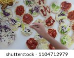 fast food on the table  | Shutterstock . vector #1104712979