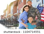 American Soldier With Family...